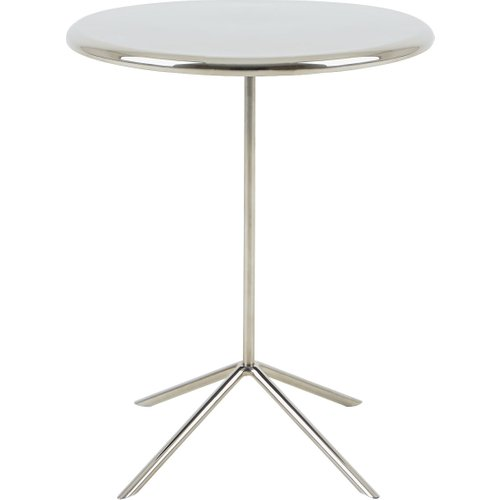 Round Side Tables - Round side tables that make a glamorous addition to a bedroom and provide a strong visual contrast to upholstery in the living room. Find the best featured and best priced round-shaped side tables.