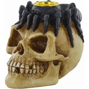 Celtic Skull Spider Candle Holder Bone (small)