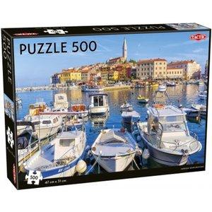 Harbour Rovinj-rovingo 500 Piece Jigsaw Puzzle