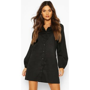 Boohoo Womens Balloon Sleeve Shirt Dress - Black - 8, Black Fzz6955810516 Womens Dresses & Skirts, Black