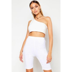 Boohoo Womens Basic Cycling Shorts - White - 6, White Dzz2894617314 Womens Dresses & Skirts, White
