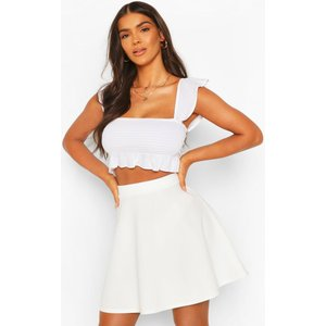 Boohoo Womens Basic Fit And Flare Skater Skirt - White - 14, White Azz3474513322 Womens Dresses & Skirts, White