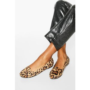Boohoo Womens Basic Leopard Slipper Ballets - Multi - 6, Multi Fzz7404019314 Womens Footwear, Multi