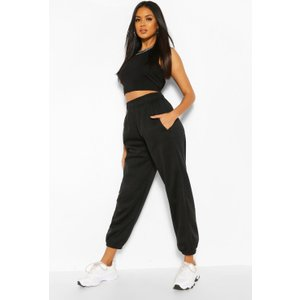 Boohoo Womens Black High Waist Oversized Jogger - L, Black Fzz6355110534 Womens Sportswear, Black