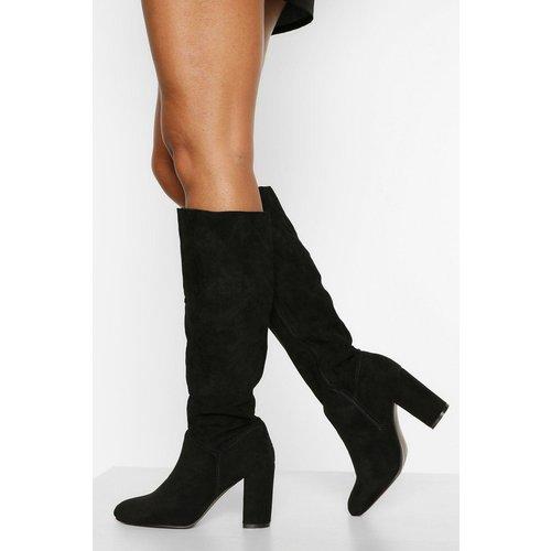 Boohoo Womens Block Heel Knee High Boots - Black - 8, Black Fzz4479210516 Womens Footwear, Black