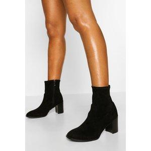Boohoo Womens Block Heel Sock Boot - Black - 5, Black Fzz5330210513 Womens Footwear, Black