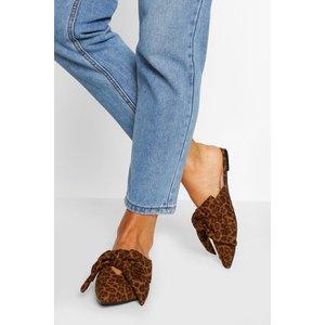 Boohoo Womens Bow Detail Flat Mules - Multi - 3, Multi Fzz5557919311 Womens Footwear, Multi