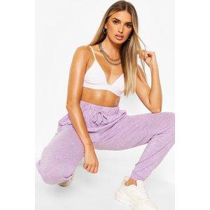 Boohoo Womens Brushed Jersey Marl Lounge Jogger - Purple - 16, Purple Nzz8918913724 Womens Sportswear, Purple