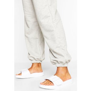 Boohoo Womens Buckle Detail Pool Slider - White - 5, White Fzz5360917313 Womens Footwear, White