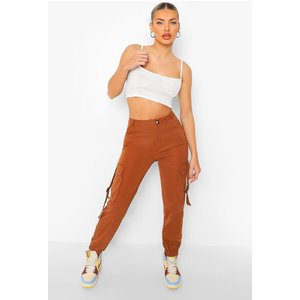 Boohoo Womens Buckle Detail Utility Trouser - Orange - S, Orange Fzz4243920830 Womens Trousers, Orange