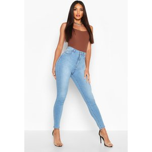Boohoo Womens Butt Shaper Stretch Skinny Jean - Blue - 12, Blue Fzz8210956420 Womens Trousers, Blue