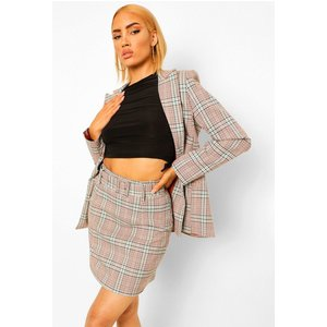 Boohoo Womens Checked Belted Woven Mini Skirt - Red - 12, Red Fzz0079161620 Womens Dresses & Skirts, Red