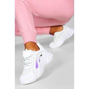 Boohoo Womens Colour Pop Chunky Sole Trainers - Purple - 8, Purple Fzz7843115616 Womens Footwear, Purple