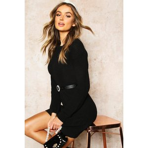 Boohoo Womens Crew Neck Jumper Dress - Black - S, Black Fzz8518910530 Womens Dresses & Skirts, Black