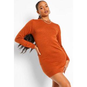 Boohoo Womens Crew Neck Jumper Dress - Orange - Xs, Orange Fzz4369980137 Womens Dresses & Skirts, Orange