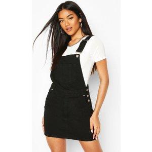 Boohoo Womens Denim Dungaree Pinafore Dress - Black - 12, Black Fzz8640710520 Womens Dresses & Skirts, Black