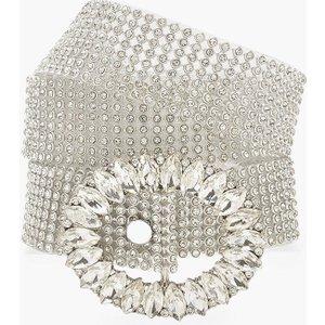 Boohoo Womens Diamante Buckle Chainmail Belt - Grey - One Size, Grey Fzz8344916335 Womens Accessories, Grey