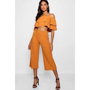 Boohoo Womens Double Bandeau Top And Culotte Co-ord Set - Orange - 14, Orange Dzz4096610022 Womens Trousers, Orange