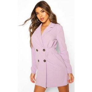 Boohoo Womens Double Breasted Pleated Waist Blazer Dress - Purple - 8, Purple Fzz6967713716 Womens Dresses & Skirts, Purple