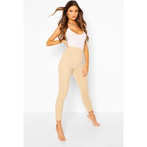 Boohoo Womens Embossed Animal Legging - Beige - 10, Beige Fzz6774611118 Womens Trousers, Beige