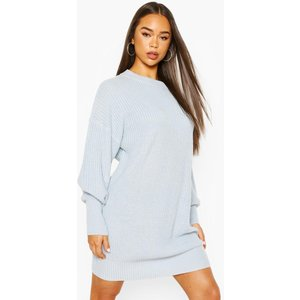Boohoo Womens Extreme Oversized Crew Neck Knitted Dress - Blue - M, Blue Fzz7401036756 Womens Dresses & Skirts, Blue
