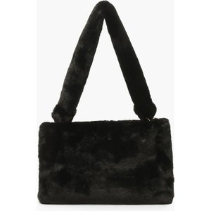 Boohoo Womens Faux Fur Ring Detail Over Shoulder Bag - Black - One Size, Black Fzz6952810535 Womens Accessories, Black