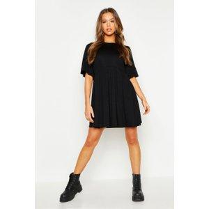 Boohoo Womens Frill Sleeve Smock Dress - Black - 10, Black Fzz9311910518 Womens Dresses & Skirts, Black