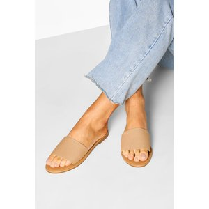 Boohoo Womens Knitted Effect Sliders - Beige - 3, Beige Fzz6807519711 Womens Footwear, Beige