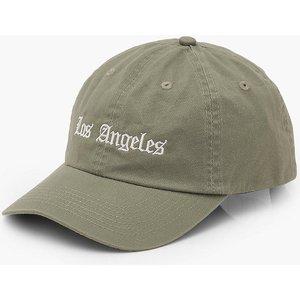 Boohoo Womens Los Angeles Slogan Cap - Green - One Size, Green Fzz6274020935 Womens Accessories, Green