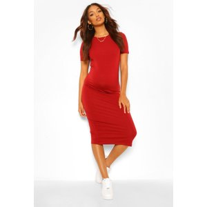 Boohoo Womens Maternity Bodycon Mini Dress - Red - 10, Red Bzz4560029318 Womens Dresses & Skirts, Red