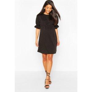 Boohoo Womens Maternity Sweat Smock Dress - Black - 16, Black Bzz4572010524 Womens Dresses & Skirts, Black