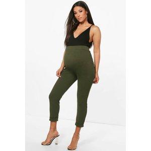 Boohoo Womens Maternity Turn Up Cuff Trouser - Green - 14, Green Bzz4415613522 Womens Trousers, Green