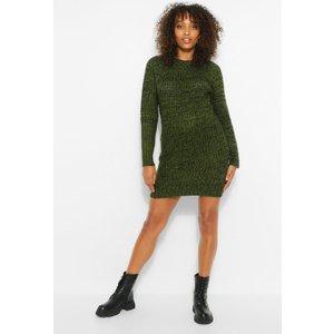 Boohoo Womens Maternity Twist Knit Marl Dress - Green - 16, Green Bzz4534613524 Womens Dresses & Skirts, Green