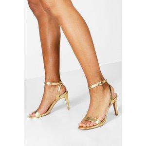 Boohoo Womens Metallic Basic 2 Part Heels - Metallics - 4, Metallics Fzz7717412812 Womens Footwear, Metallics