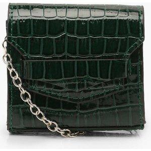 Boohoo Womens Micro Mini Croc Cross Body Bag - Green - One Size, Green Fzz7973513035 Womens Accessories, Green