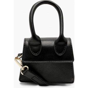 Boohoo Womens Micro Mini Structured Handle Cross Body Bag - Black - One Size, Black Fzz8481310535 Womens Accessories, Black