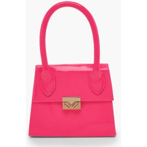 Boohoo Womens Neon Micro Mini Structured Handle Grab Bag - Pink - One Size, Pink Fzz9264015535 Bags, Pink