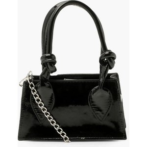 Boohoo Womens Patent Knot Detail Mini Cross Body Bag - Black - One Size, Black Fzz4716610535 Bags, Black
