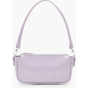 Boohoo Womens Patent Shoulder Bag - Purple - One Size, Purple Fzz6825113735 Bags, Purple