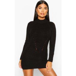 Boohoo Womens Petite Ribbed Knitted Jumper Dress - Black - M, Black Pzz7924210556 Womens Dresses & Skirts, Black