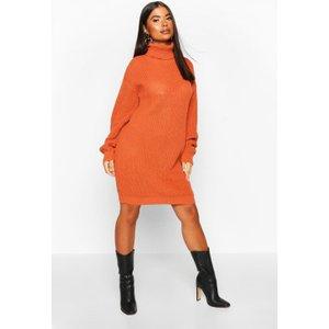 Boohoo Womens Petite Roll Neck Jumper Dress - Beige - M, Beige Pzz6866816956 Womens Dresses & Skirts, Beige