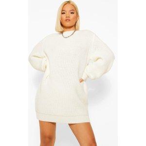 Boohoo Womens Petite Shoulder Pad Detail Knitted Jumper Dress - White - 12, White Pzz5902813320 Womens Dresses & Skirts, White