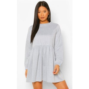 Boohoo Womens Petite Sweat Smock Dress - Grey - 8, Grey Pzz5923913116 Womens Dresses & Skirts, Grey