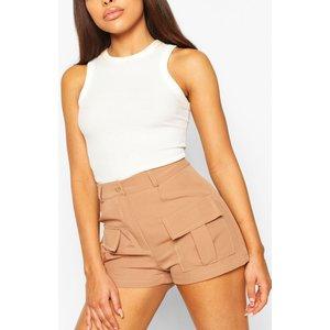 Boohoo Womens Petite Utility Pocket Shorts - Orange - 12, Orange Pzz6453520820 Womens Dresses & Skirts, Orange