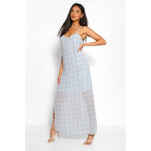 Boohoo Womens Plunge Back Strappy Ditsy Floral Maxi Dress - Blue - 14, Blue Fzz5936510622 Womens Dresses & Skirts, Blue