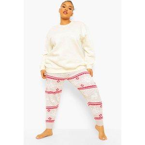 Boohoo Womens Plus Fairisle Print Knitted Legging - Grey - 16-18, Grey Pzz61372131361 Womens Trousers, Grey