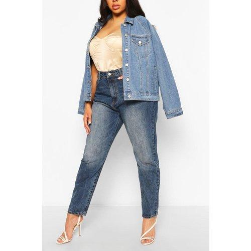 Boohoo Womens Plus High Rise Mom Jeans - Blue - 18, Blue Pzz6692434051 Womens Trousers, Blue