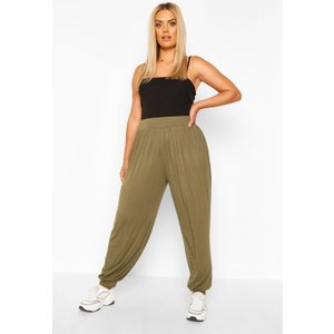 Boohoo Womens Plus Jersey Harem Trousers - Green - 26, Green Pzz65337135352 Womens Trousers, Green