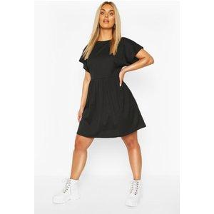 Boohoo Womens Plus Jumbo Rib Smock Dress - Black - 18, Black Pzz6627810551 Womens Dresses & Skirts, Black