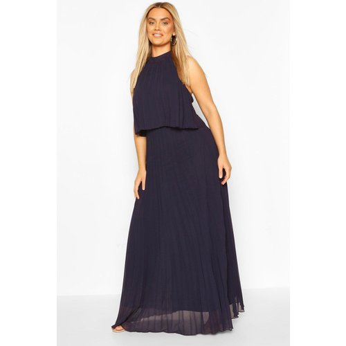 Boohoo Womens Plus Occasion Pleated Maxi Dress - Navy - 18, Navy Pzz6681614851 Womens Dresses & Skirts, Navy